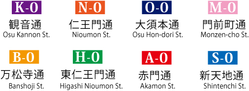 Walking Map Osu | Welcome to the Osu Shopping District in